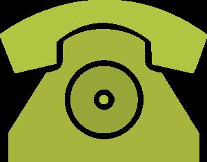 Pictogramme en forme de téléphone, utilisé pour introduire notre numéro de téléphone.
