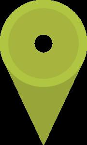 Pictogramme en forme de localisation, utilisé pour introduire notre adresse